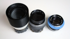 50mm and 135mm FD Lenses